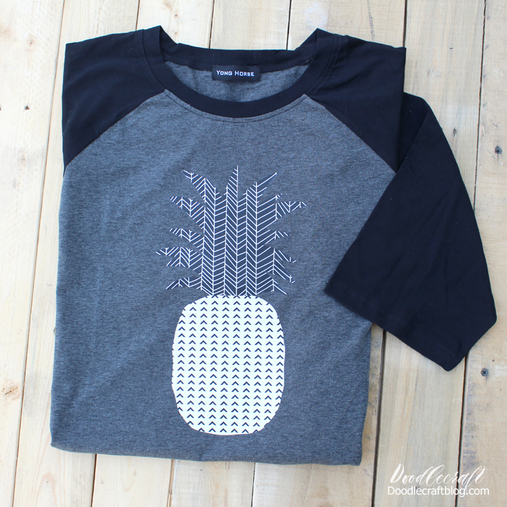 184b6e51e My daughter loves pineapples and so this is the perfect shirt for her. This  is a fun Spring shirt do-it-yourself project. It's still long sleeved, ...