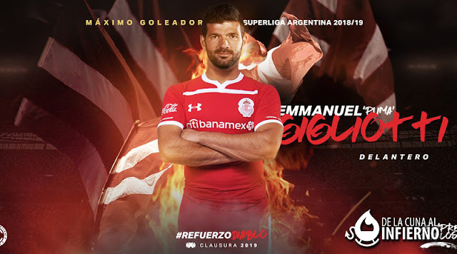 Toluca oficializó la vergonzosa venta de Emmanuel Gigliotti, donde a Independiente apenas le entraran 2.800.000 dólares EmmanuelGigliotti-Toluca-Independiente-2019