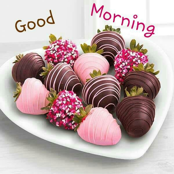 Romantic Love Good Morning Chocolate Image for Lovers & Couples