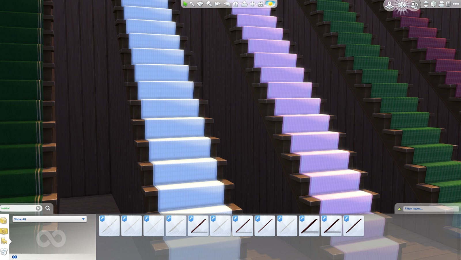 My Sims 4 Blog Manor Staircase Carpets By Flinnel