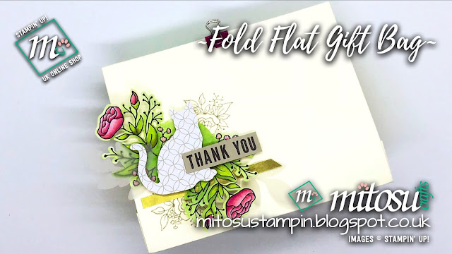 Stampin' Up! Lots of Happy SU Fold Flat Gift Bag Idea order craft supplies from Mitosu Crafts UK Online Shop