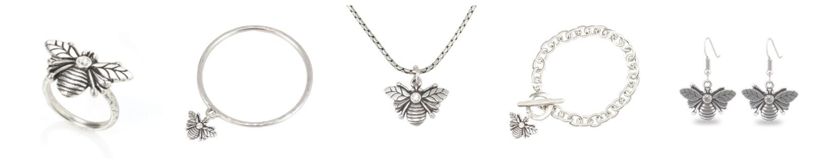 Danon jewellery, Swarowski bee ncklace, ring, arrings, bracelet