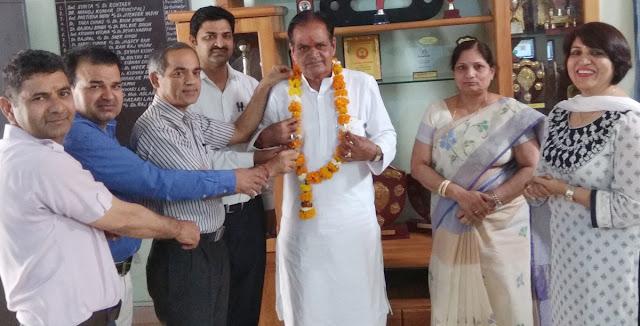 State candidate Sarai Khawaja's State Awardee teacher Brahmadev Yadav retired