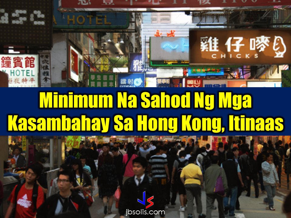 The minimum wage set for Household Service Workers (HSWs) in Hong Kong has been increased since Saturday A wage hike of 2.3 % or HK$4,410 (P28,730.30) will be effective for the HSWs who will sign the new contract, according to south China Morning Post. Tataasan ng 2.3 porsyento o papalo na sa  ang sahod ng mga kasambahay sa Hong Kong na may mga kontratang pipirmahan sa Sabado o pagkatapos nito, ayon sa ulat ng South China Morning Post. For the HSWs with old existing contracts, the Immigration Department will handle the process of application for their wage increase. The application has to reach the department by October 27. More so, the food allowance that has been given instead of free meal stated in the HSW contracts will also be increased to HK$16. Sponsored Links  From the previous HK$1,037 (P6,755.86) the food allowance will  be increased to HK$1,053 (P6,860.09) per month. On September last year, the minimum wage for Hong Kong HSWs has previously had increment from HK$4,210 to HK$4,310.  There are 350,000 foreign domestic workers presently deployed in Hong Kong, more than 50% of them are Filipinos .  One Hong Kong Dollar is equal to P6.5148 more or less. Source: South China Morning Post Advertisement READ MORE:       ©2017 THOUGHTSKOTO