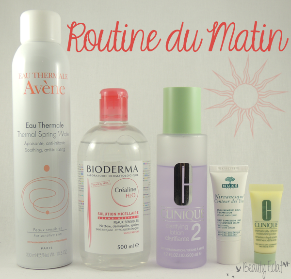 routine matin avene bioderma clinique nuxe