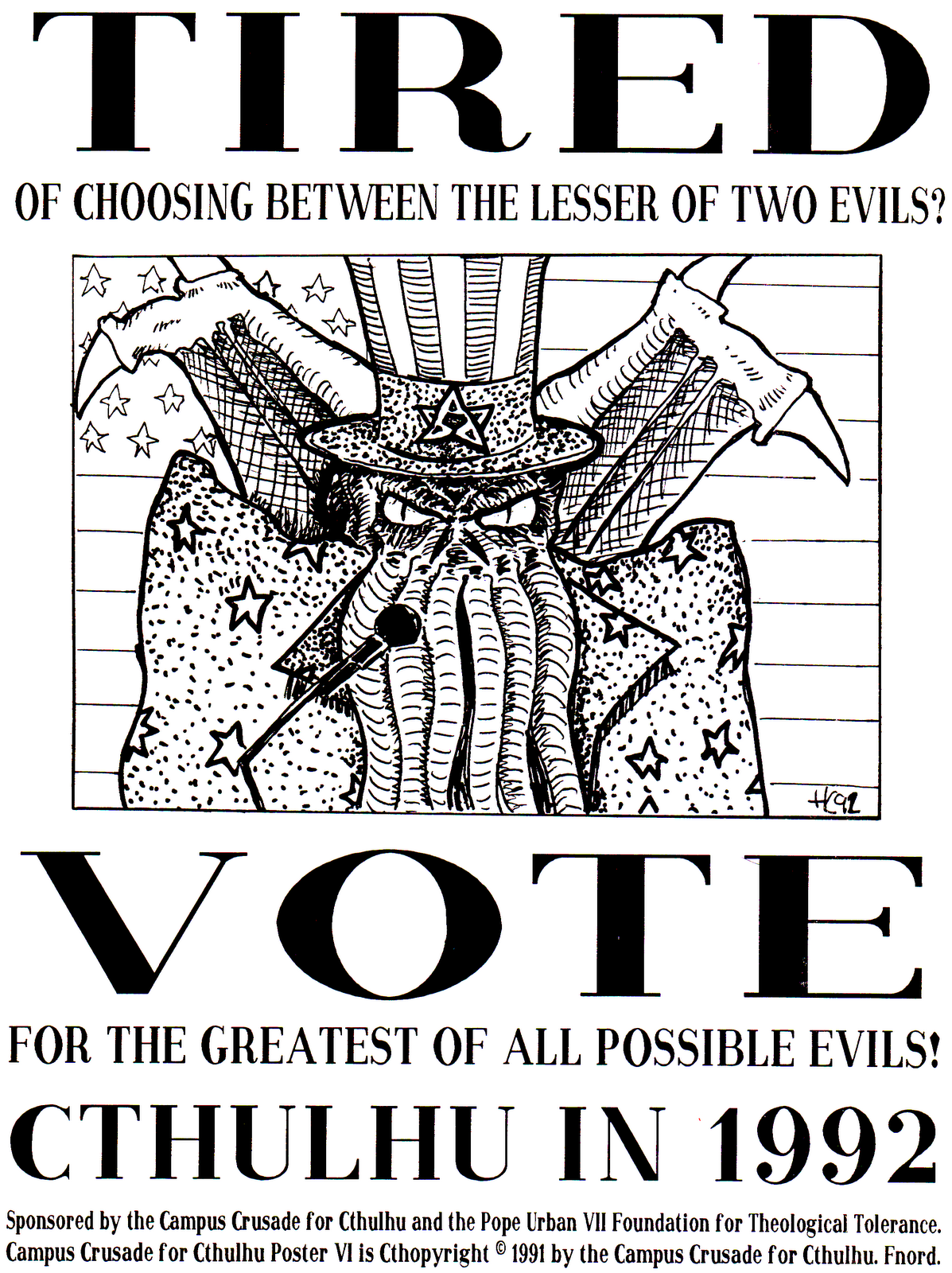 Cthulhu campaign poster, 1992