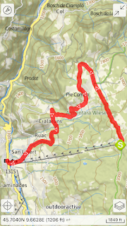 Alta Badia app map and overview for Hike 3 - Prati d'Armentara.