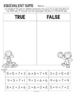 Equivalent sums worksheet