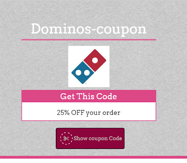 Dominos 35% Coupon Code May 2017