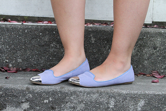 Dolce Vita Silver Capped Pantone Serenity Blue Flats