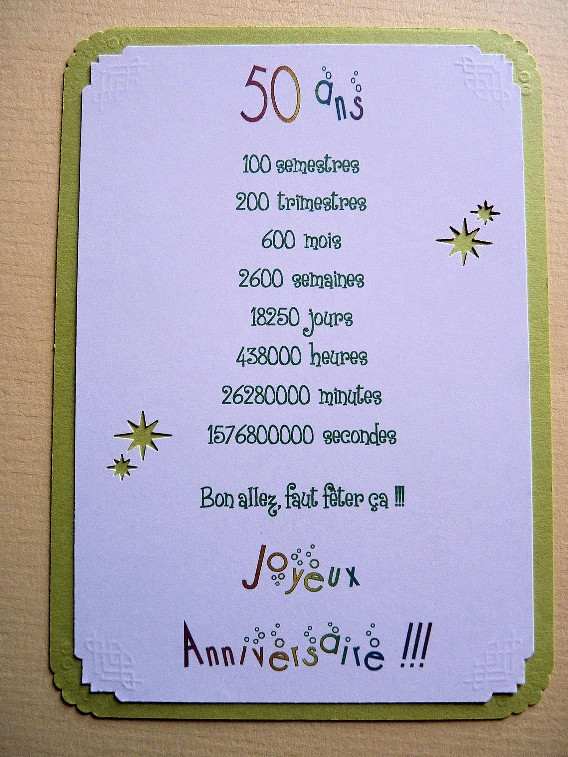 anniversaire quinquagénaire