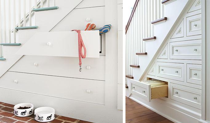 I d e a aprovechar el espacio bajo una escalera for Como utilizar el espacio debajo de las escaleras