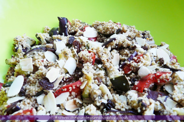 Spicy Cous Cous Salad at The Purple Pumpkin Blog