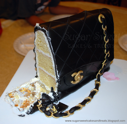 And Alas 3 Days Later We Finally Cut The Cake Ate It Too Chanel Purse