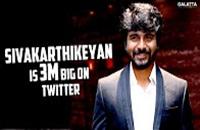 Sivakarthikeyan is 3M Big on Twitter