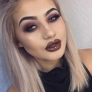 ไอเดียแต่งหน้า Dark Brown Lipstick