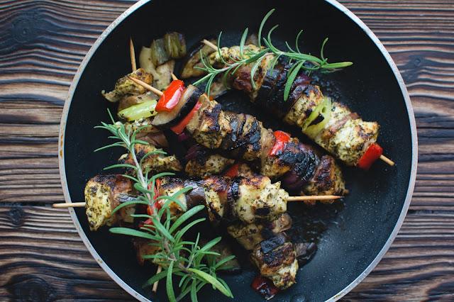 Eating Fabulously, Christopher Stewart, chicken souvlaki, tzatziki sauce, recipe,