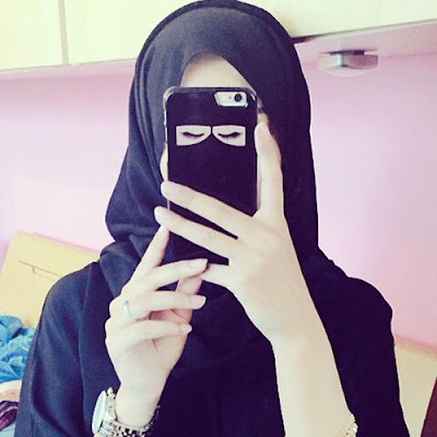 Muslim Girl Face Hidden DP