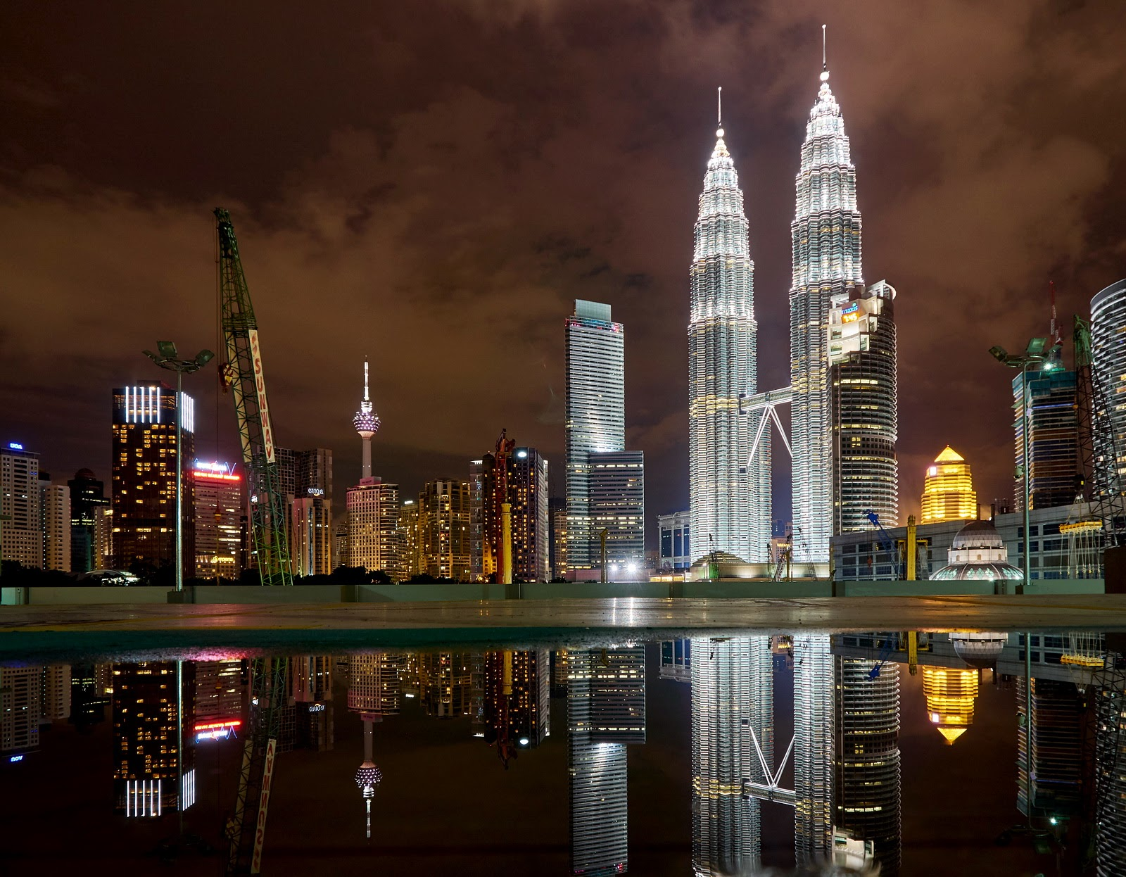 Images of Night KL Skyline from My Old Olympus OM-D E-M5 (Original)