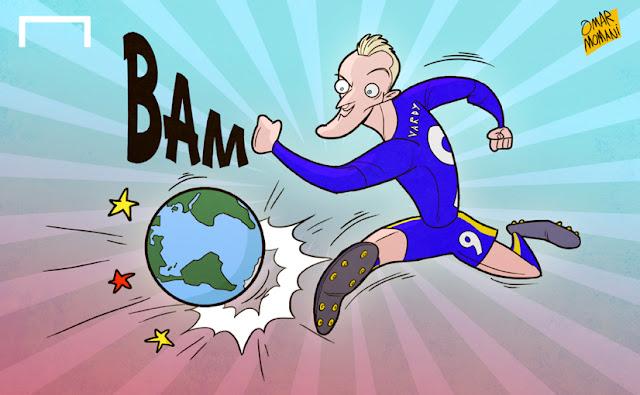 Jamie Vardy cartoon caricature