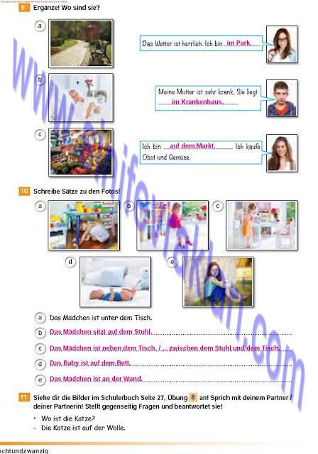 Almanca A1.2 Çıpa Yayınları Çalışma Kitabı Cevapları Sayfa 28