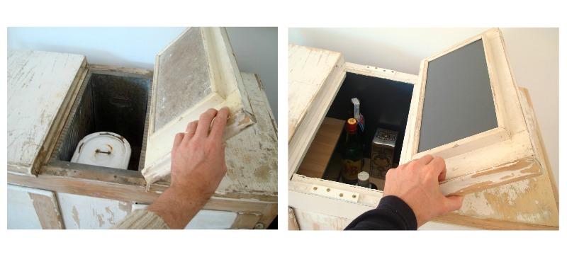 Comprar nevera de hielo antigua restaurada