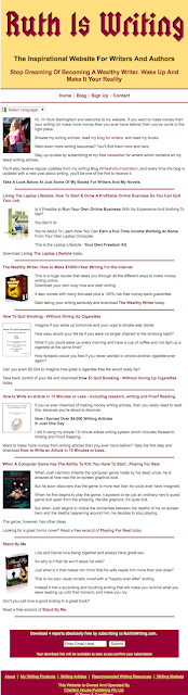 Homepage of RuthIsWriting.com