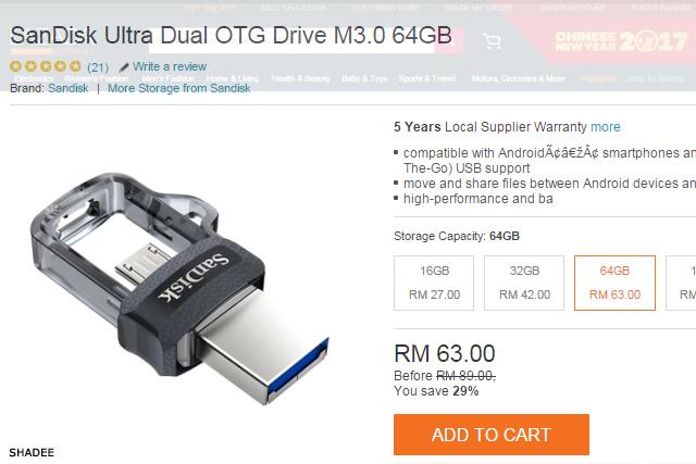 sandisk ultra dual OTG drive