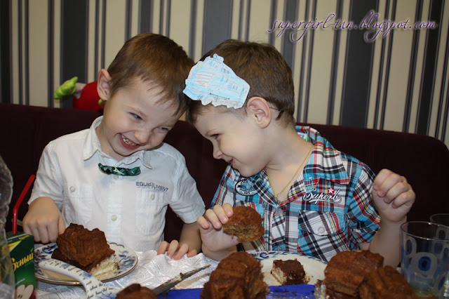 детский день рождения в стиле паровозиков