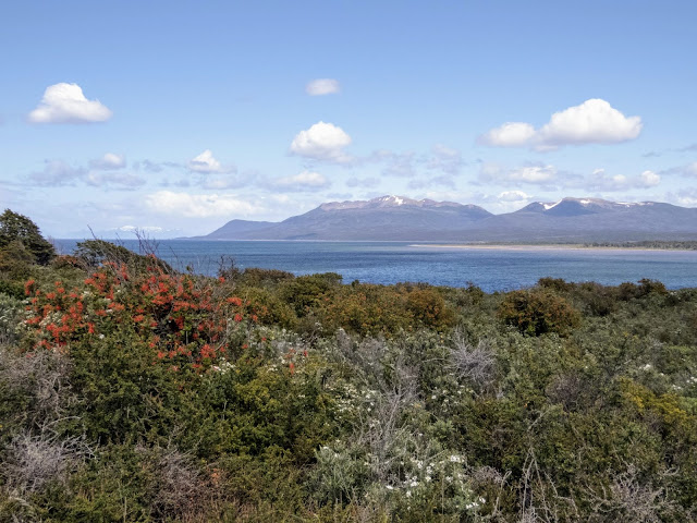 Views of the Strait of Magellan from Fort Bulnes near Punta Arenas