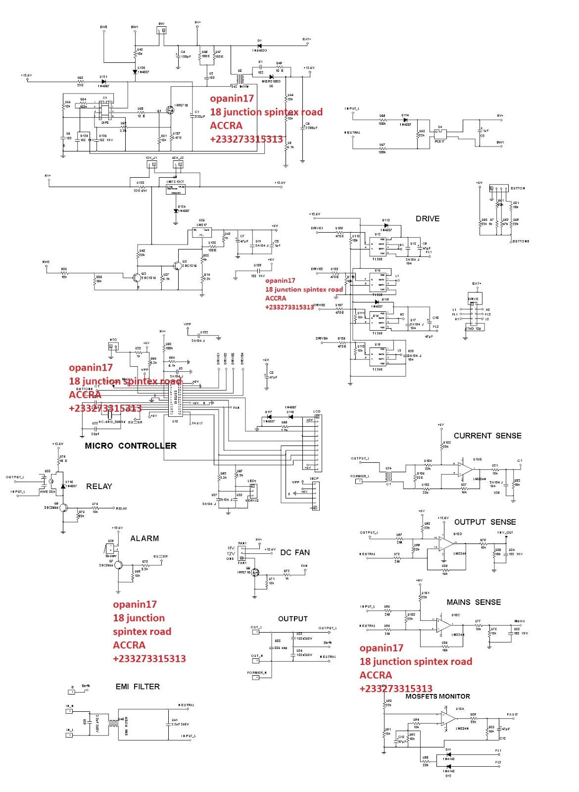 Sine Wave Inverter Sine Wave Inverter Circuit Diagram