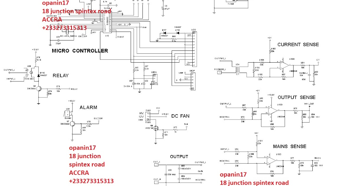 DSPIC30f2010 PURE SINE INVERTER CIRCUIT WITH CHARGER | Many circuits
