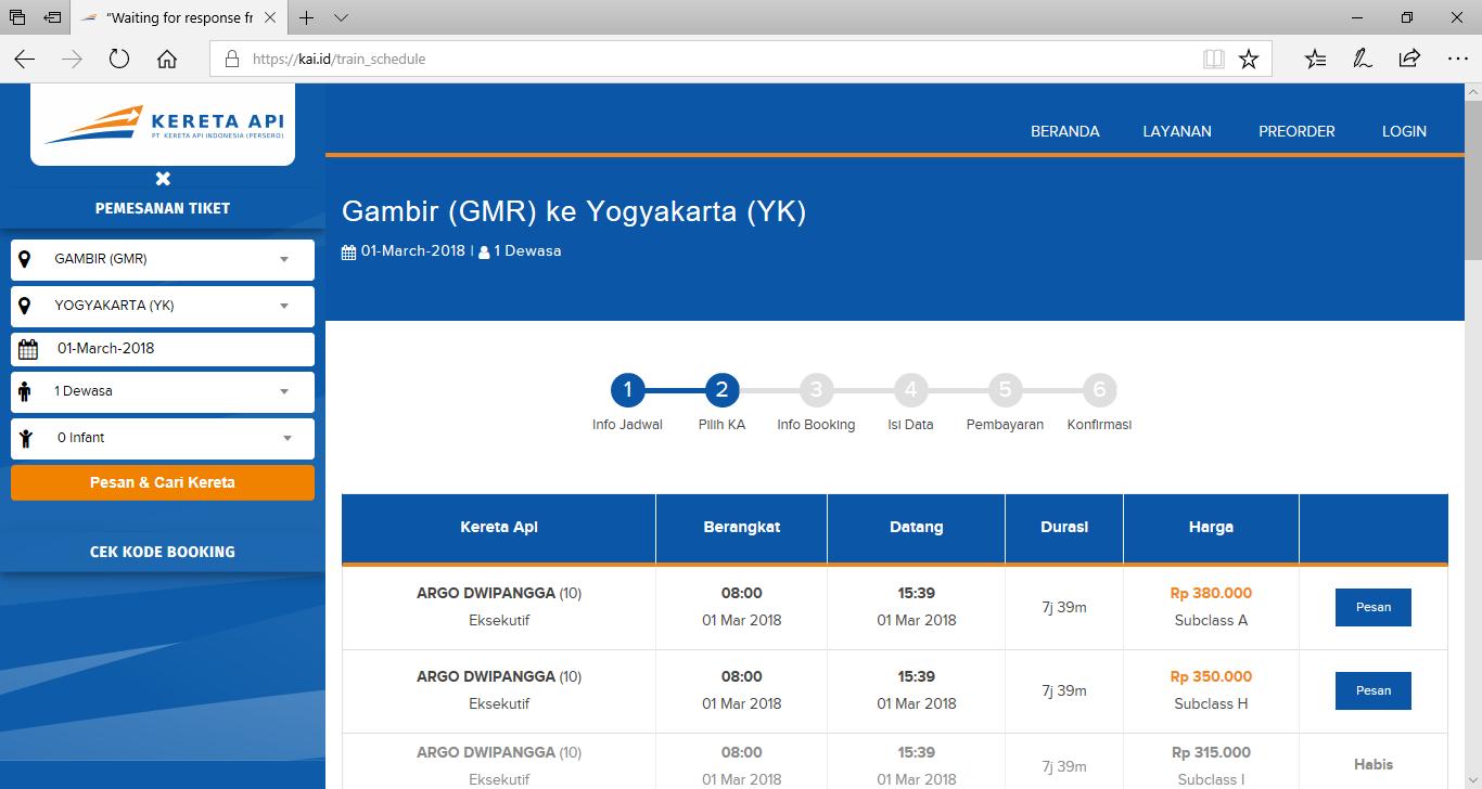 Cara Pesan Tiket Kereta Api Online Di Website Pt Kai
