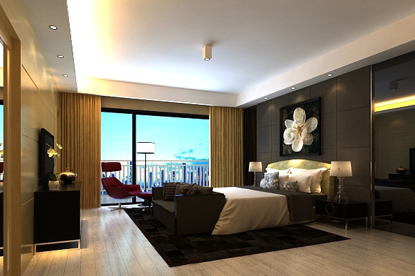 Simple bedroom model free 3ds max