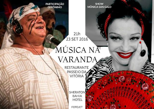 Mônica San Galo convida Gerônimo para show no 'Música na Varanda'