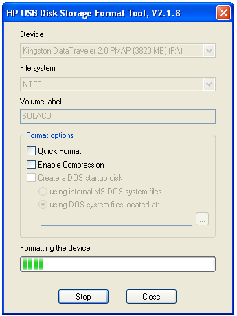 Hp usb disk storage format tool format usb drives download.