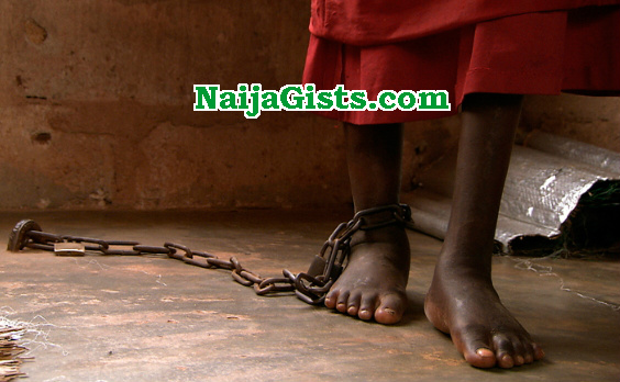 girl chained father ibadan
