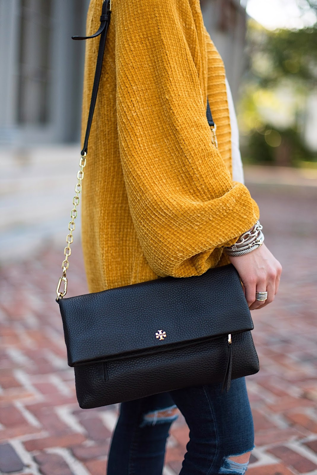 Tory Burch Fold Over Bag - Something Delightful Blog