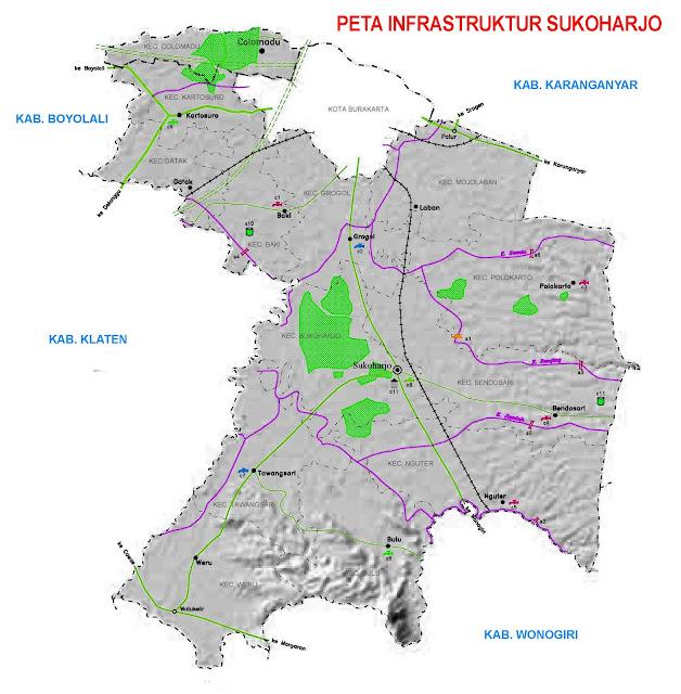 Gambar Peta Infrastruktur Kabupaten Sukoharjo
