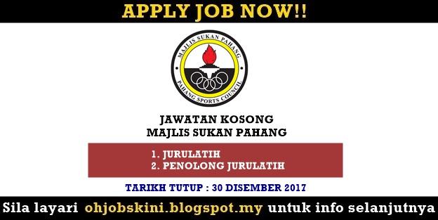 Jawatan Kosong Majlis Sukan Pahang