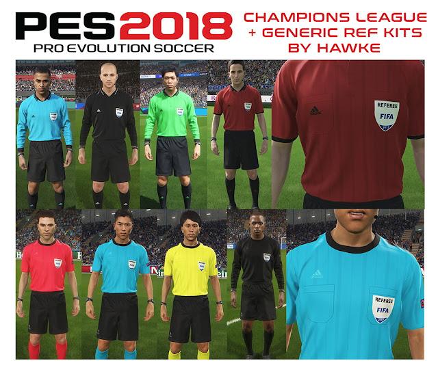 PES 2018 Referee Kitpack dari Hawke