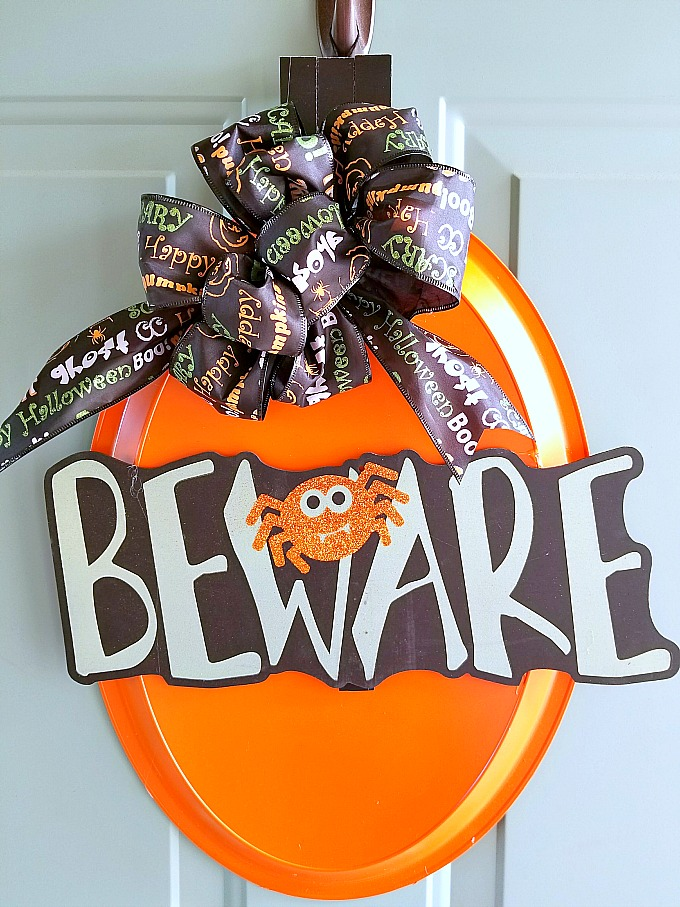 DIY Halloween Dollar Store Door Hanger