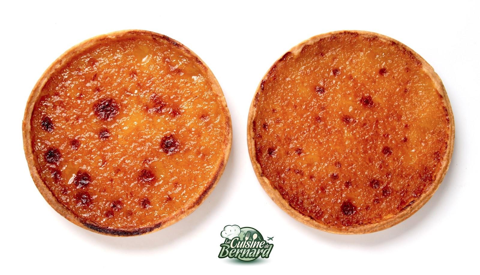 La cuisine de bernard tarte au citron la cr me cuite - Tarte au citron herve cuisine ...