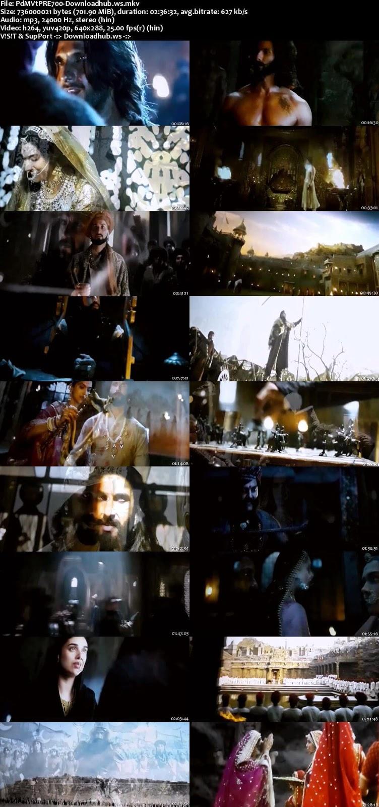 Padmaavat 2018 Hindi 700MB Pre-DVDRip x264