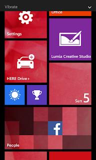 Lumia 630 home screen