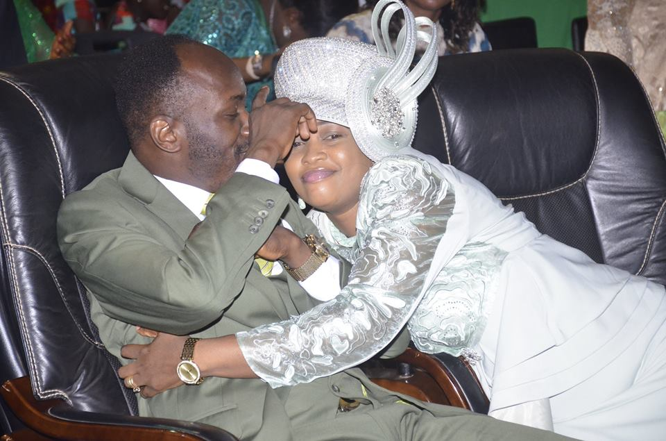 Apostle Suleman Plays With His Wife During Church Service