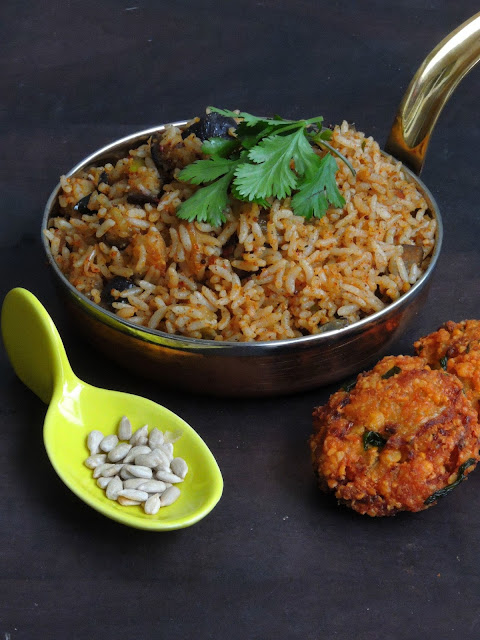 Vegan Sunflower Seeds Podi Rice