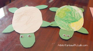 construction paper turtle craft