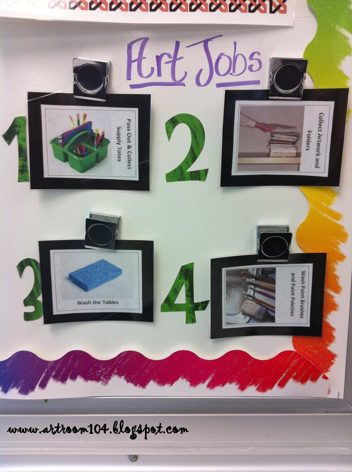 Art Room 104 High School Art Room Rules Amp Objectives Boards