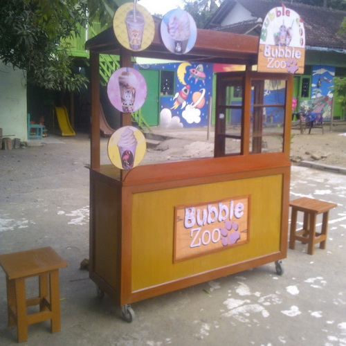 Tinuku Traditional design movable food booth for interior cafe, classic restaurant and outdoor patio